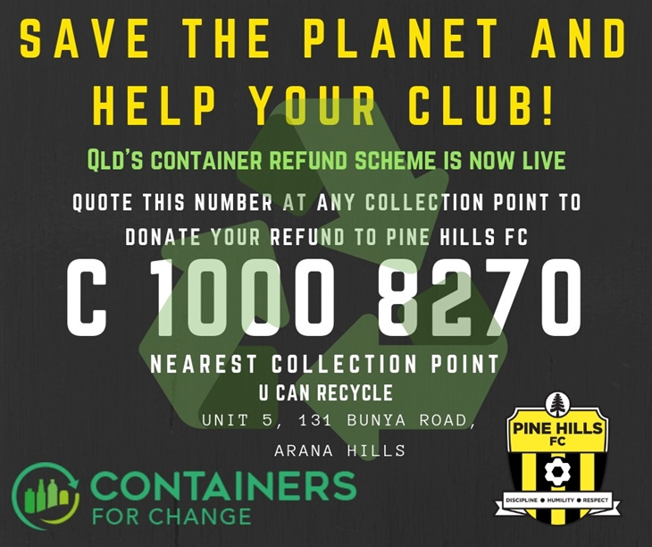 PHFC  Container recycling within club