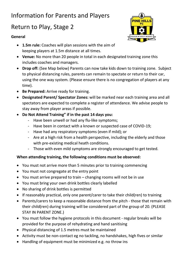 Club  Return to  Football  Parents and  Players  Info- 1